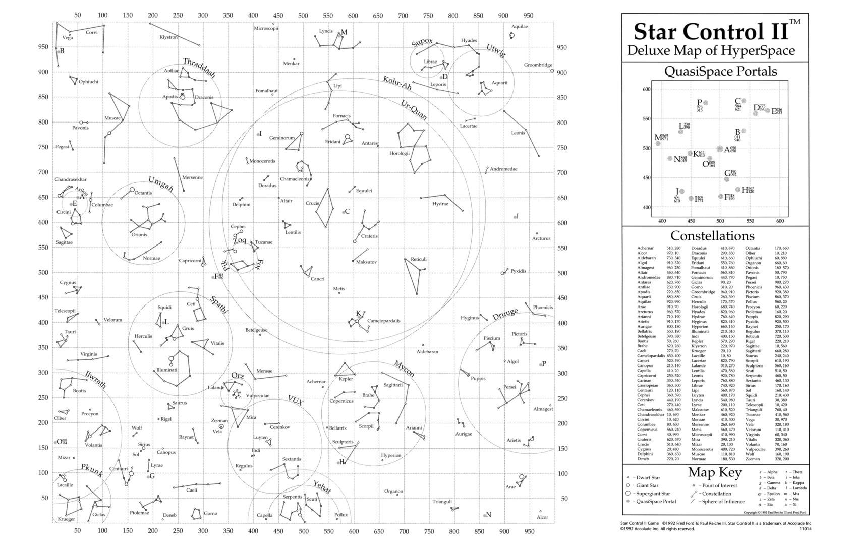 Star Control - Starmaps